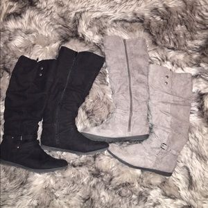 Shoes - Tall below knee boots (2 pair)